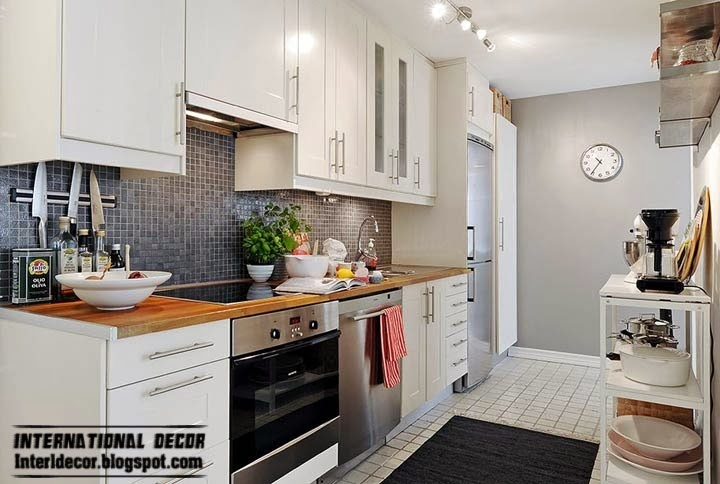 Scandinavian kitchen style and design, little cooking space