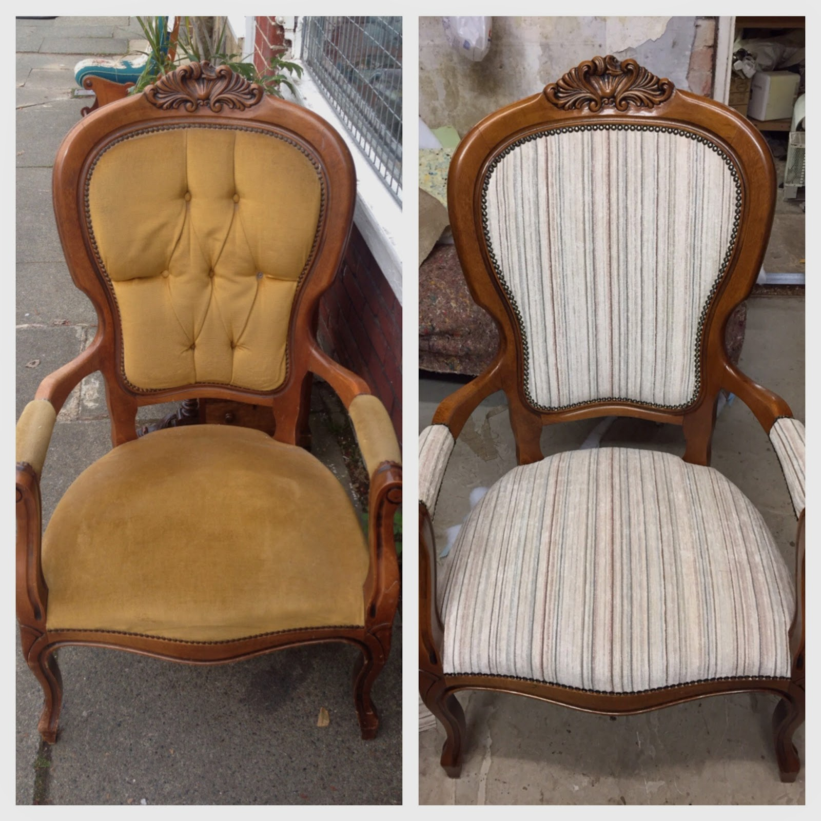 How to reupholster a louis chair - French Louis Chair Reupholster