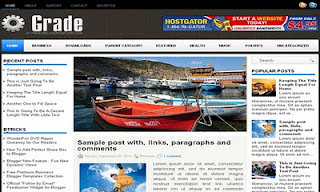Grade Blogger Template<strong> SEO </strong>Modified