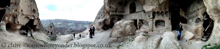 exploring Selime Monastery in the Ihlara Valley, Cappadocia