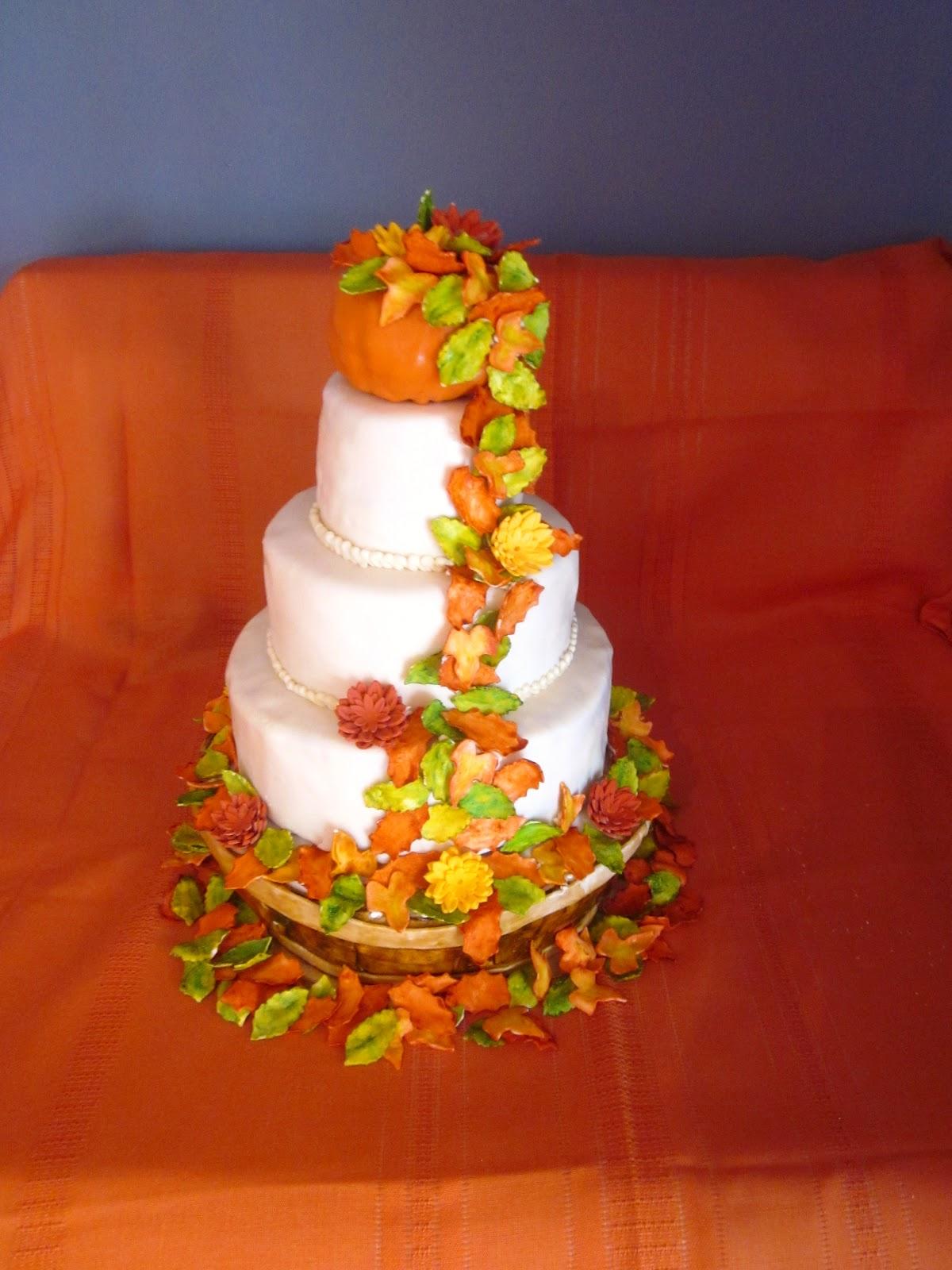 Second Generation Cake Design Fall Wedding Cake