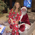 MARIAH CAREY CELEBRATES CHRISTMAS WITH SANTA CLAUSE