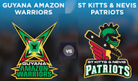 Watch Guyana Amazon Warriors v St Kitts and Nevis Patriots CPLT20 Live Streaming Online Free.