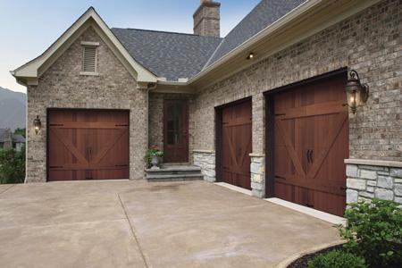 Garage door replacement 10 tips for making the right for Wood veneer garage doors