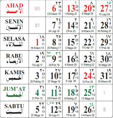 kalender masehi 2013, kalender hijriyah 2013, kalender jawa, kalender