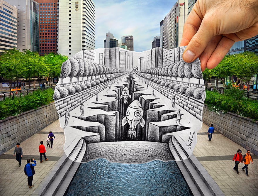 ben heine penciling in seoul seoul searching. Black Bedroom Furniture Sets. Home Design Ideas