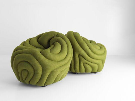 design curves modern poufs. Black Bedroom Furniture Sets. Home Design Ideas