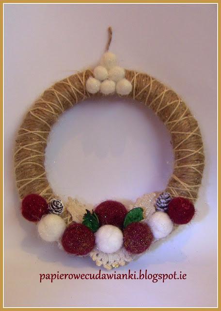 ozodby świąteczne ze sznurka