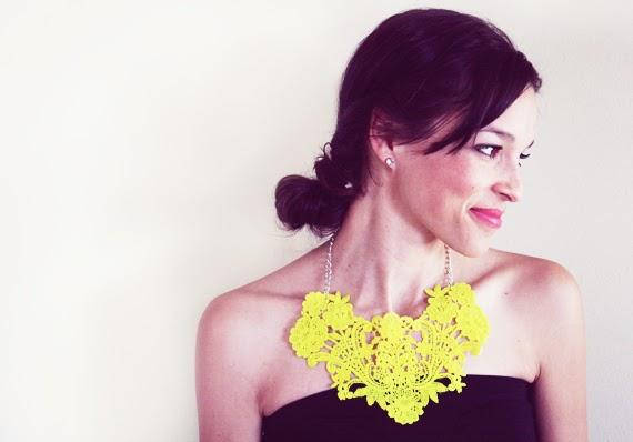 diy neon statement necklace - photo #21