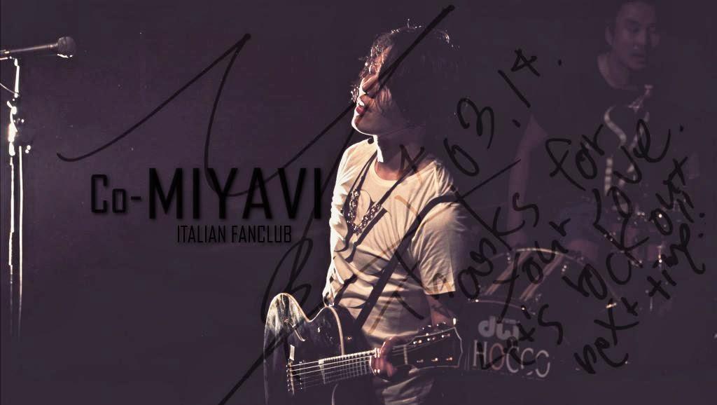 CO-MIYAVI ITALIAN FANCLUB [雅]