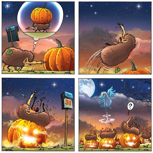 ежик на хеллоуине