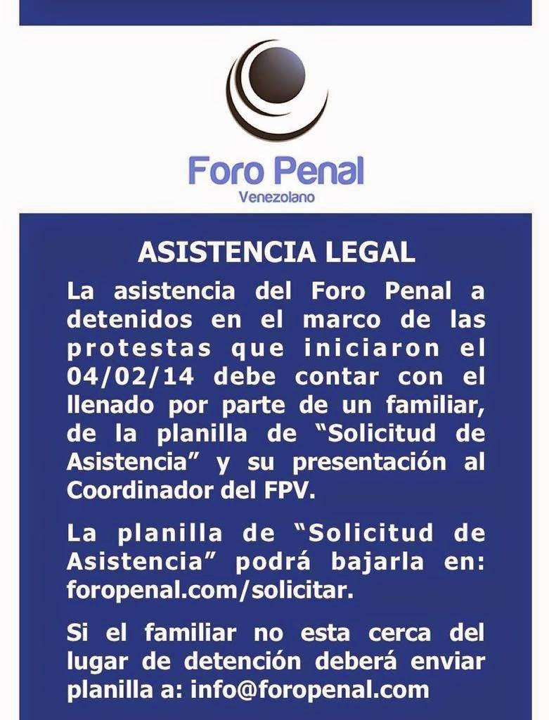 Foro Penal (asistencia)