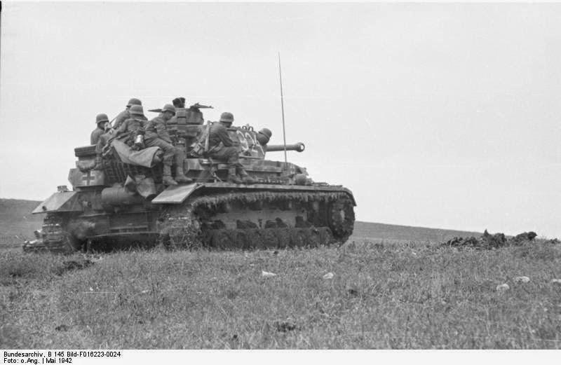 Немецкий танк под Керчью
