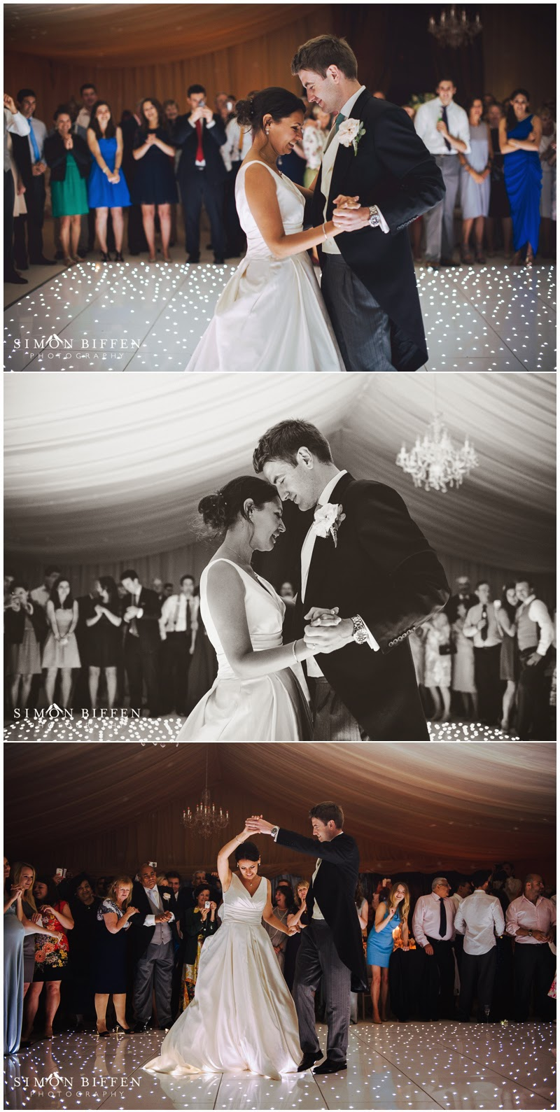 First dance at Polesdon Lacey marquee wedding