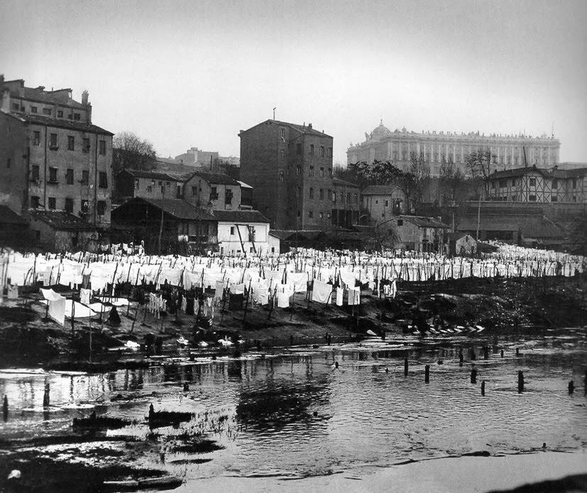 Lavaderos en el Río Manzanares 1910, Madrid
