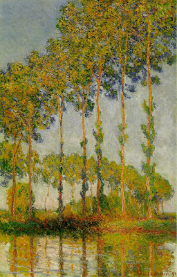 Claude Monet, Poplars along the River Epte, Autumn, 1891