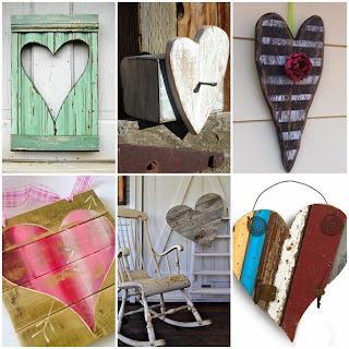 Ideas para Reciclar Madera, Corazones de San Valentin