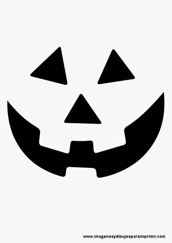 Caras de calabaza de halloween imagenes y dibujos para - Plantillas para decorar calabazas halloween ...