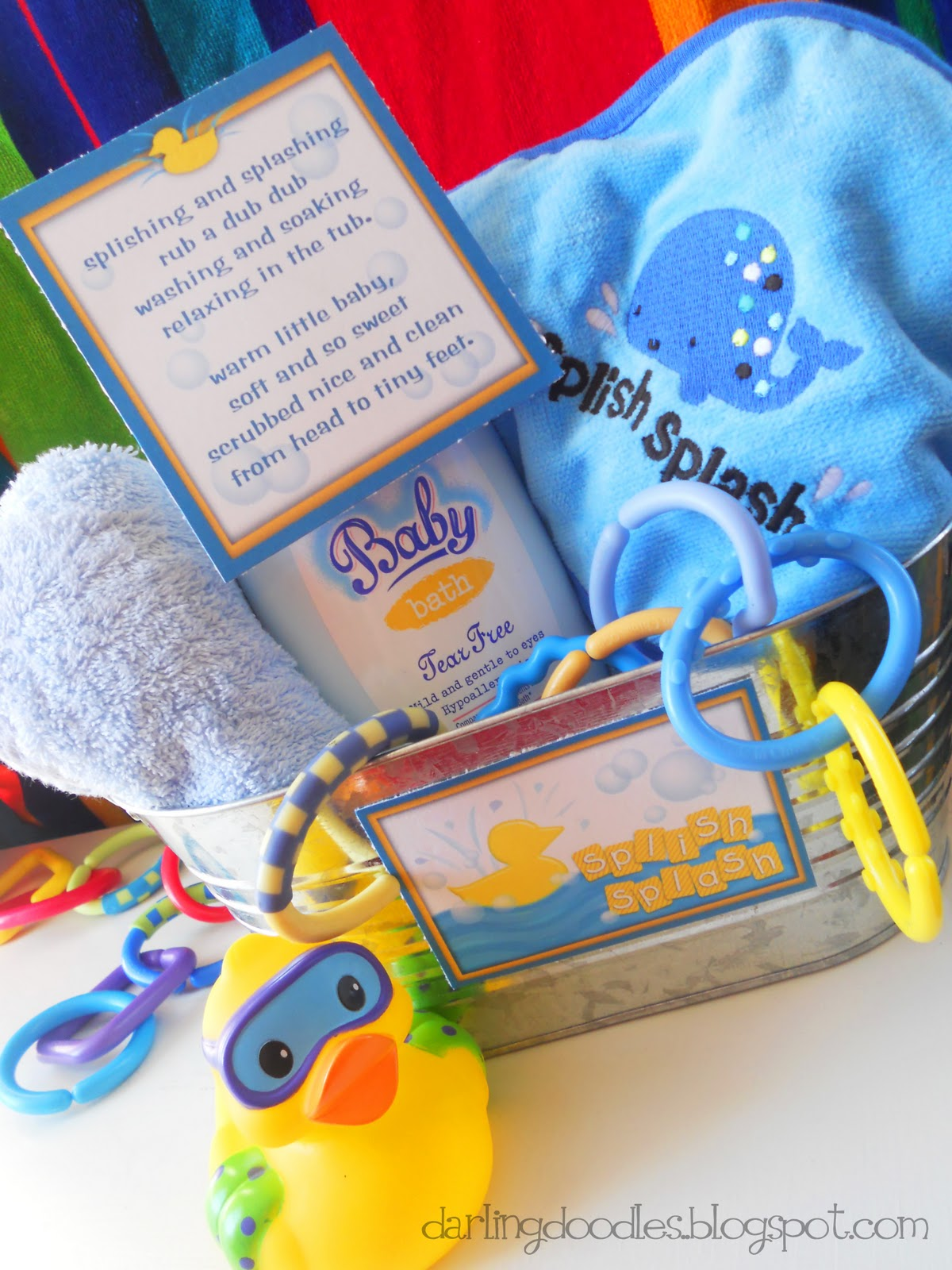 makes a little baby bath basket a perfect gift for any baby shower