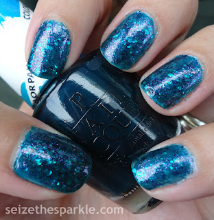 OPI Turquoise Aesthetic Jelly Glitter Sandwich