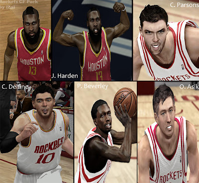 NBA 2K13 Mods Houston Rockets Players Update