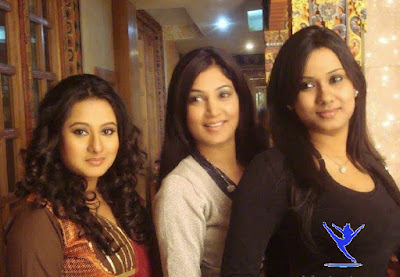 Bangladeshi Film Actress Purnima with Actress Lucky and Bobby