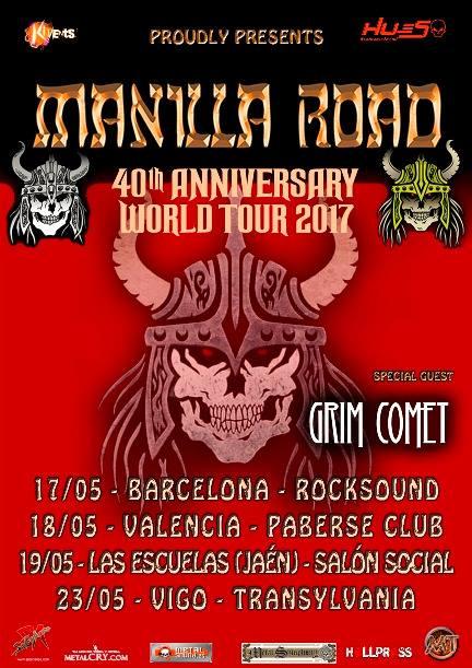Manilla Road - 40 Aniversario Tour España