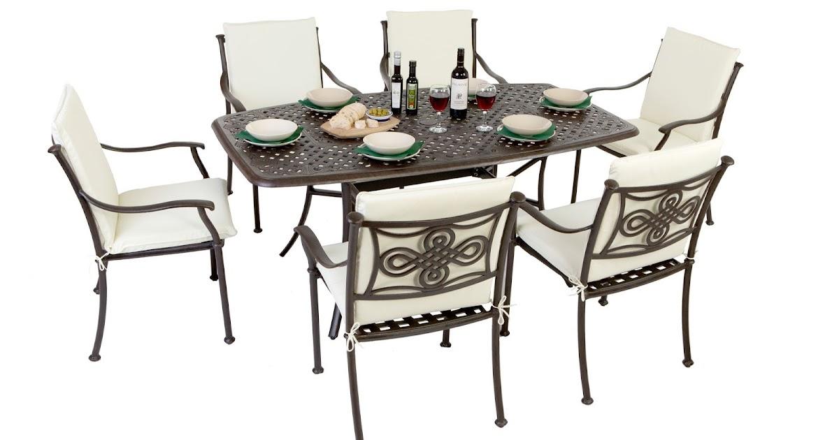 Outside Edge Garden Furniture Blog: Our Current Bestseller   The Karoo  Rectangular Cast Aluminium Garden Furniture Set For 6 People | Free UK  Standard ...