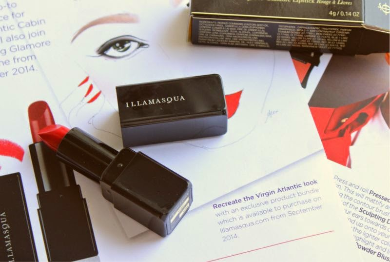 Illamasqua For Virgin Atlantic Glamore Lipstick in Virgin