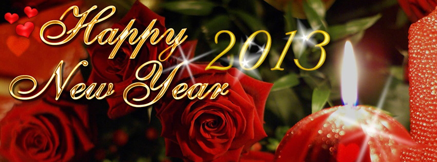 Red Roses Wish Happy New Year