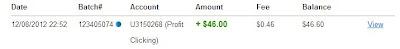 Bukti Pembayaran profitclicking.com ke 8 dan 9, Not Scam!
