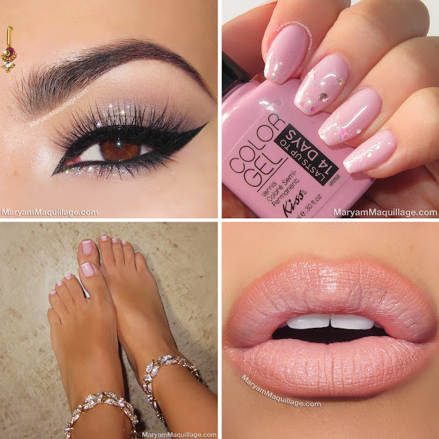 Toe Nail Art Holidays: Maryam Maquillage: Holiday Makeup & Nails: Sparkly From