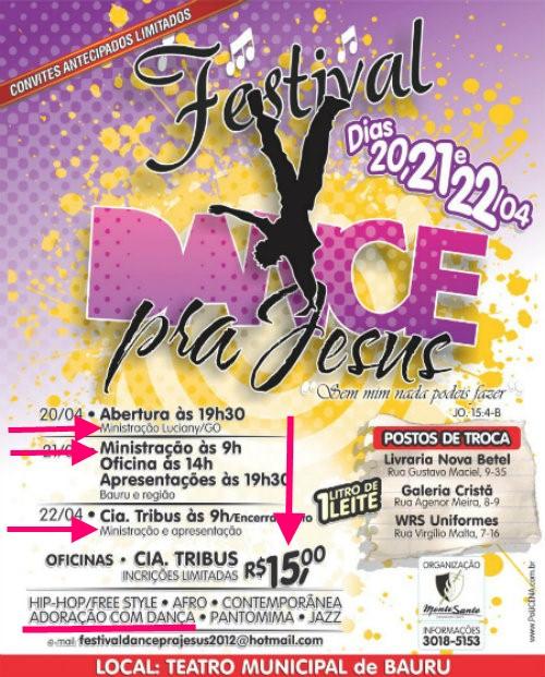 Cartaz do Dance pra Jesus, de Bauru