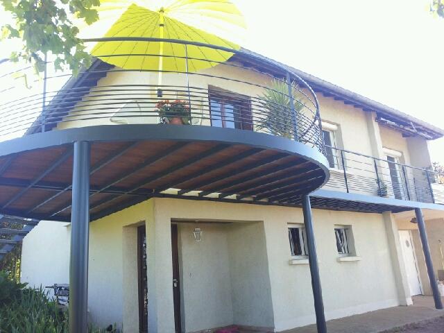 VITTOZ ArchitectureUrbanismePaysage Terrasse bois et métal