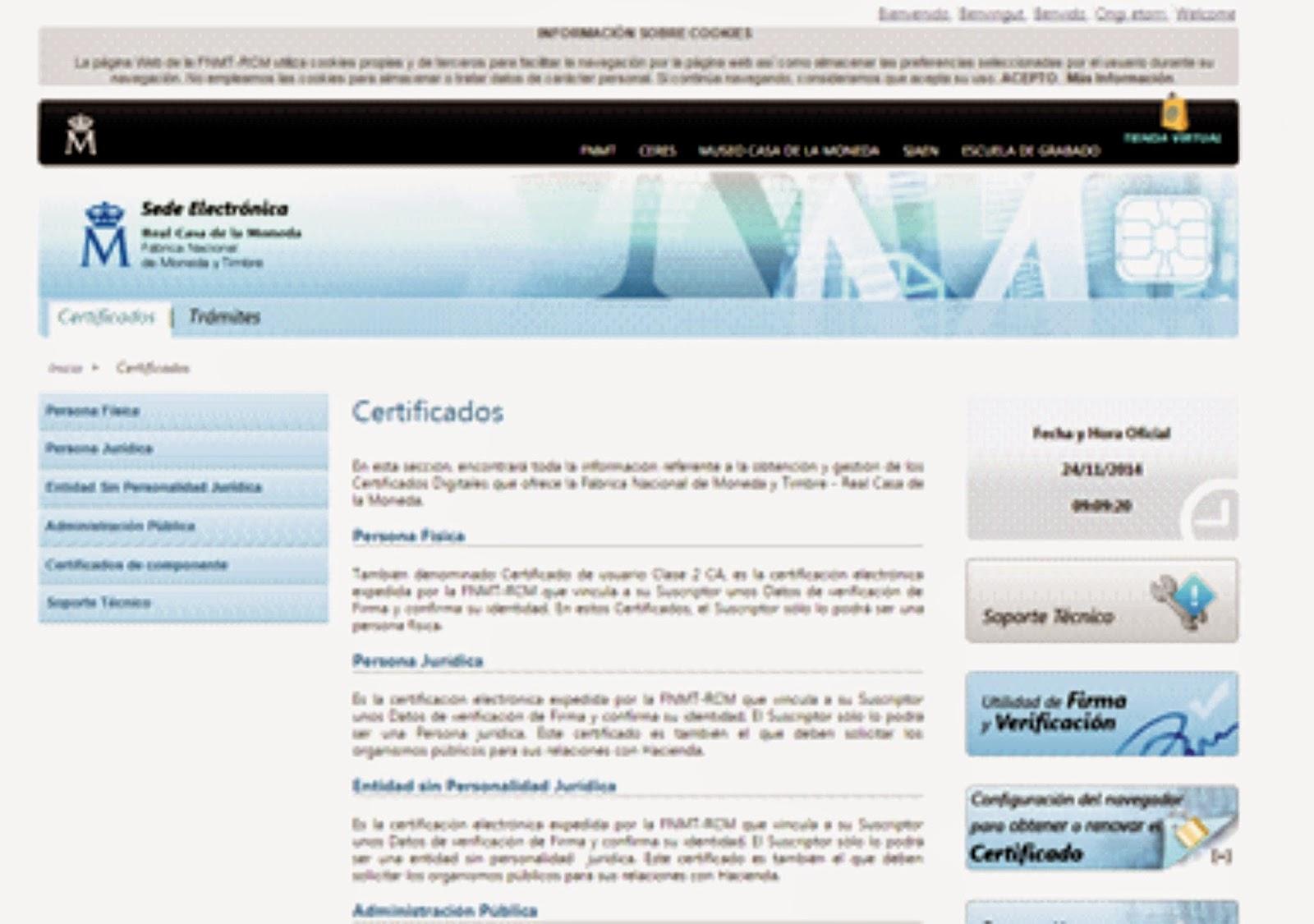 Viajes en pareja certificado digital for Oficinas certificado digital