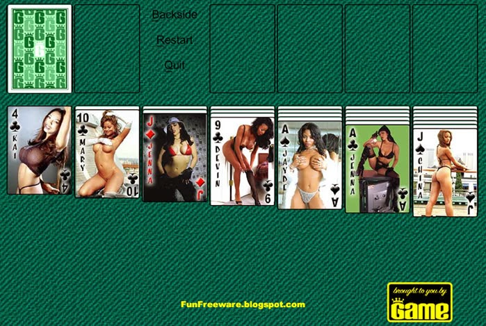 GAME GIRL SOLITAIRE IMAGE