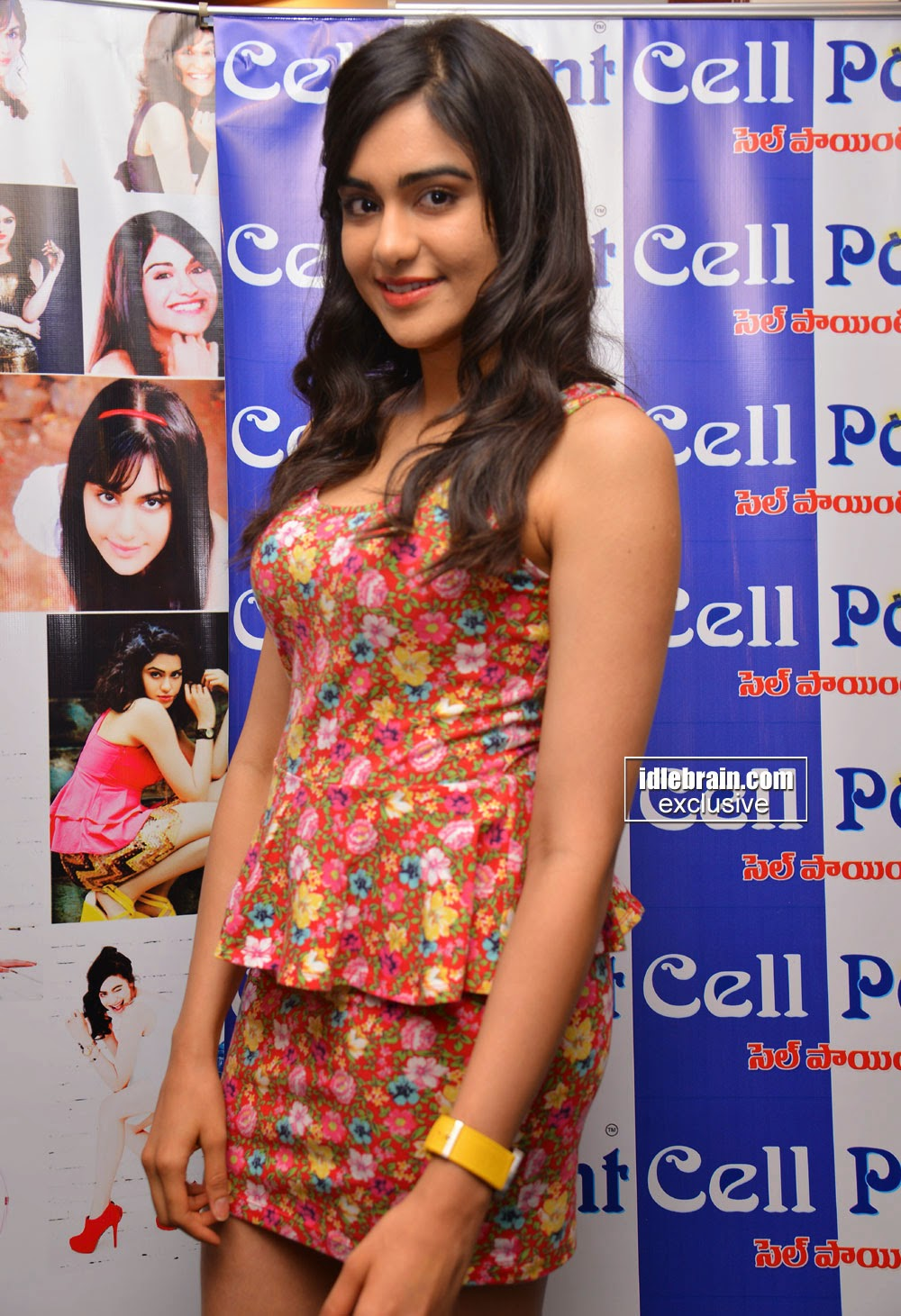 Bollywood and Bangla actress Adah Sharma at the announcment of signing up as the brand ambassador of Cell Point