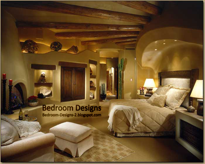 Rustic master bedroom design idea with wood ceiling panels - Master bedroom ceiling designs ...