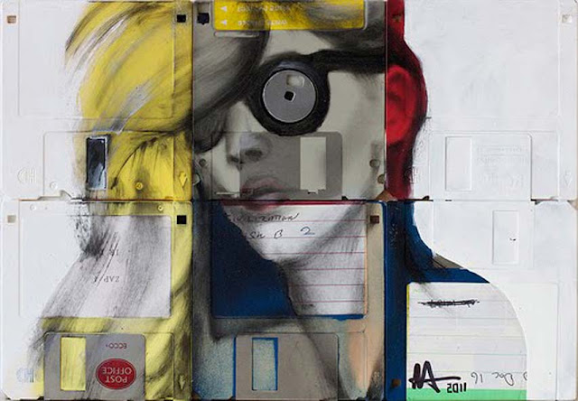 Green Pear Diaries - Nick Gentry pintura discos 7