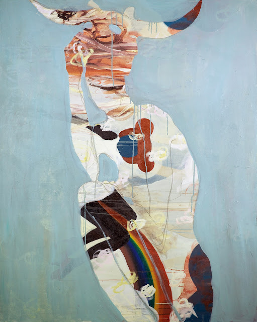 Powder Blue Rainbow by Chati Coronel, 2012. From her SkinSkin exhibition.