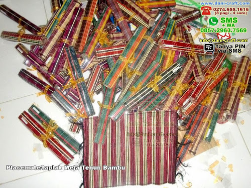 Placematetaplak Meja Tenun Bambu Bambu Lidi Yogyakarta