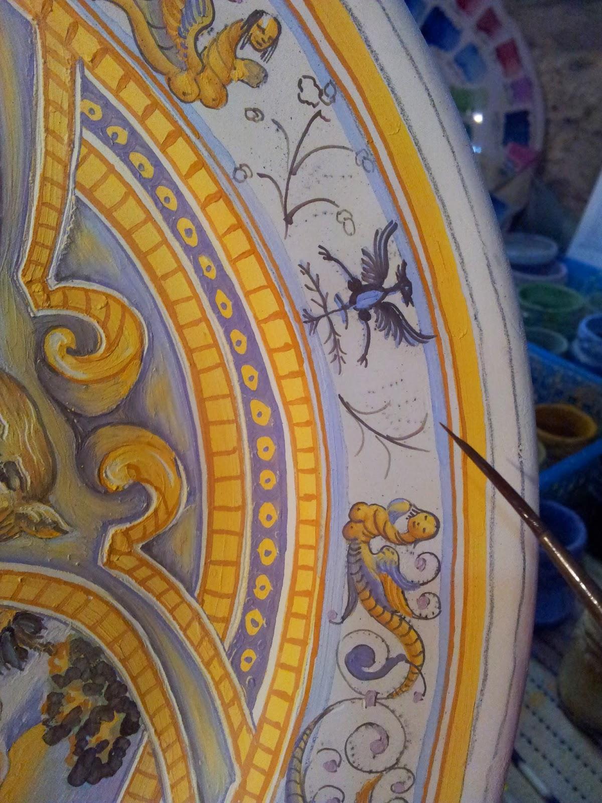 Ceramica e dintorni piatto ovale a raffaellesche for Decorazione stanze vaticane