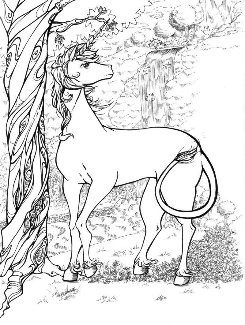 Free Coloring Pages Of Unicorn And Rainbow Printable Unicorn Coloring Pages