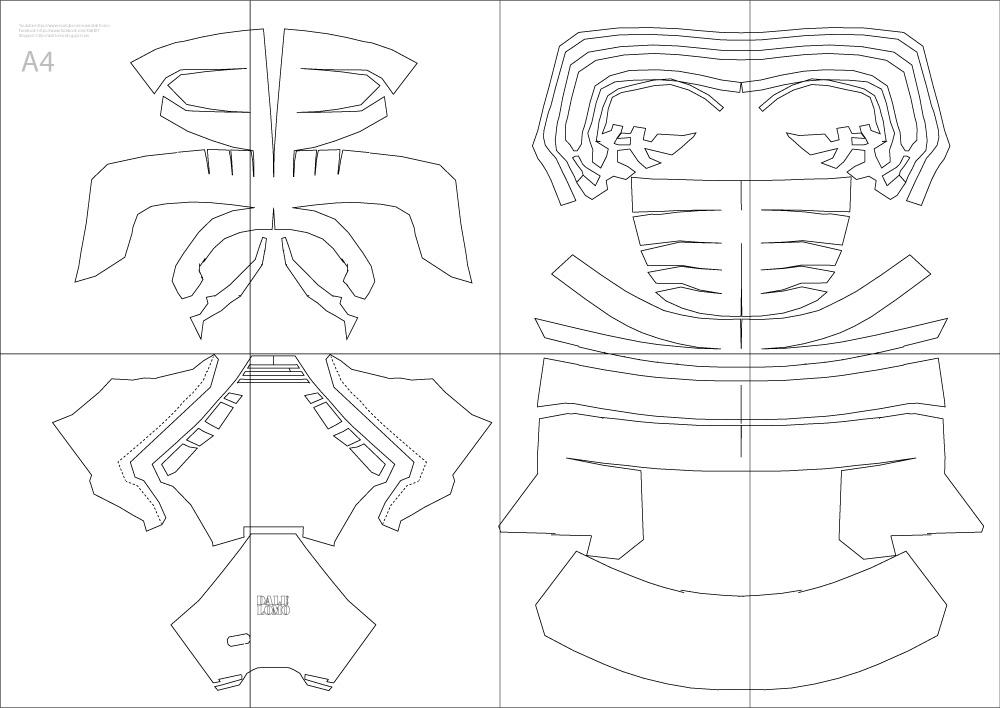 dali lomo star wars kylo ren costume helmet diy cardboard pdf