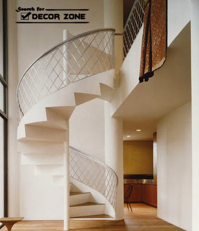 spirals staircase designs with classic structure - Staircase Designs For Homes
