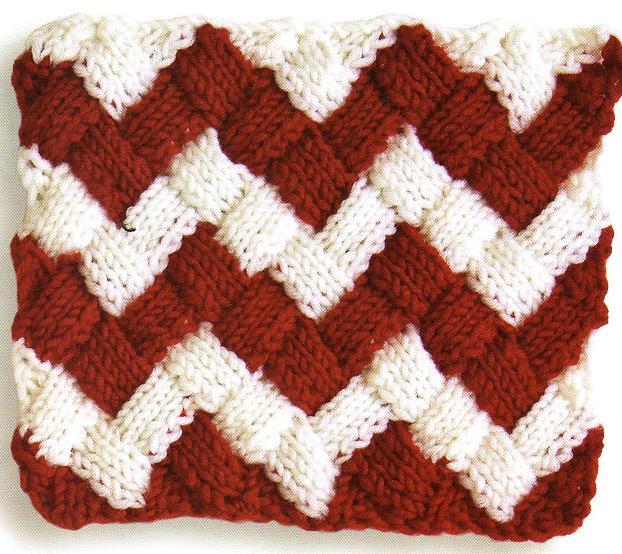 Free Entrelac Knitting Patterns : Knitting Patterns Free: Entrelac Knitting Pattern #1: Stockinette stitch