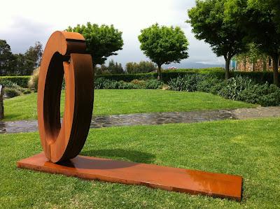 Lump Corten Steel Sculpture