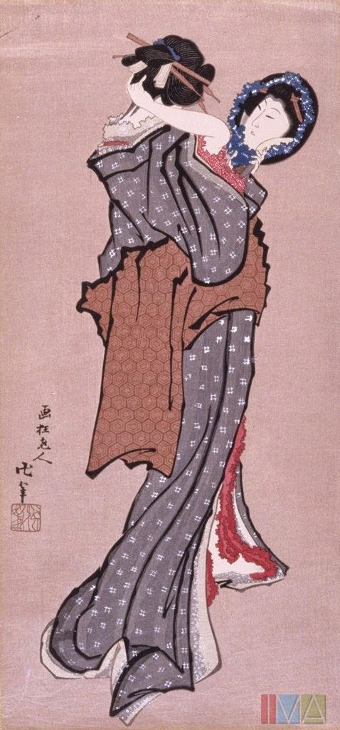 femeie-privind-in-oglinda-katsushika-hokusai