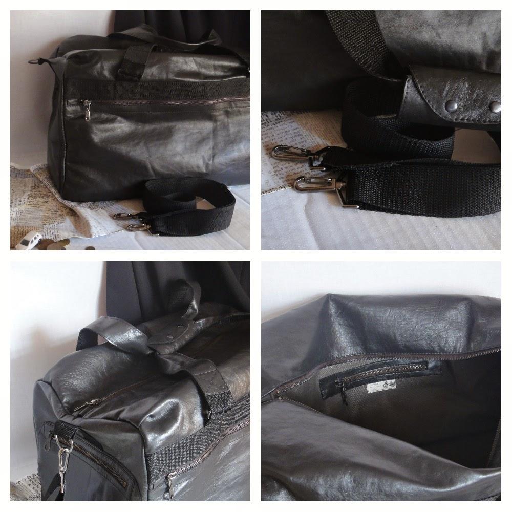 Большая сумка из кожи - черная сумка для мужчин, подарок на день рождения