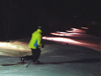 Night skiing, West Mountain, Weds. 01/25/2012  The Saratoga Skier and Hiker, first-hand accounts of adventures in the Adirondacks and beyond, and Gore Mountain ski blog.